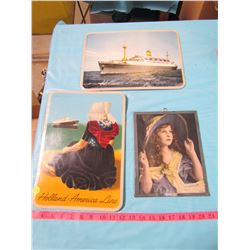 LOT OF 3 PICTURES (2 ARE HOLLAND-AMERICA LINE) *BACK OFF 1 PICTURE*