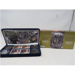 2003 Queen Elizabeth II Coronation Stamp and Coin Set