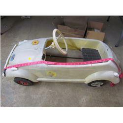 "PLASTIC VW PEDAL CAR (39"" X 16.5"")"