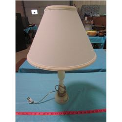 "ELECTRIC LAMP (PRIENE ONYX FABRIC) *22.5"" TALL*"