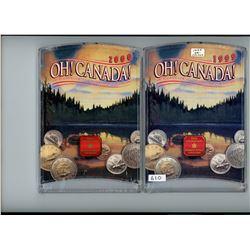 Lot of 2 Oh Canada Specimen Sets including 1999, 2000