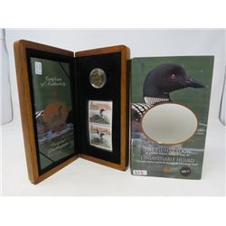 2004 Elusive Loon $1 Coin and Stamp Set.