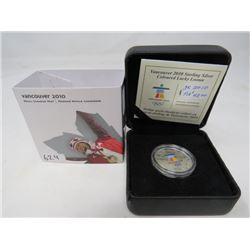 Vancouver 2010 Coloured Lucky Loonie Proof Sterling Silver