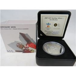 2007 Proof Sterling Silver $25 Ice Hockey