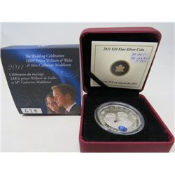 2011 Proof $20 The Wedding Celebration of HRM Prince William and Catherine Middleton with sapphire b
