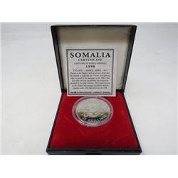 Somalia. Proof 1998 Titanic 25 Shillings.
