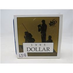 1995 Proof Peacekeeping dollar.