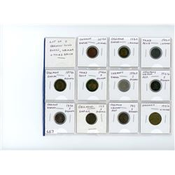 Lot of 11 different German coins from Empire, Weimar Republic and Third Reich (1874 – 1942).