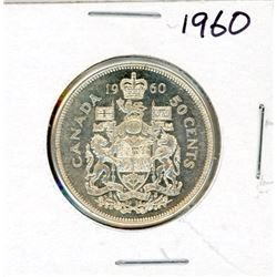 FIFTY CENT COIN (CANADA) *1960* (SILVER)