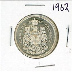 FIFTY CENT COIN (CANADA) *1962* (SILVER)