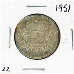 FIFTY CENT COIN (CANADA) *1951* (SILVER)
