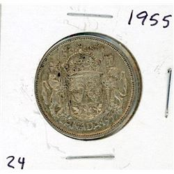 FIFTY CENT COIN (CANADA) *1955* (SILVER)