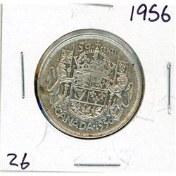 FIFTY CENT COIN (CANADA) *1956* (SILVER)