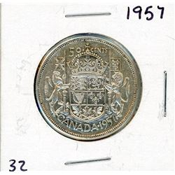 FIFTY CENT COIN (CANADA) *1957* (SILVER)