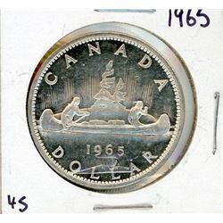 ONE DOLLAR COIN (CANADA) *1965* (SILVER)