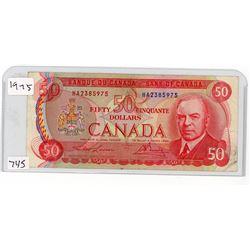 FIFTY DOLLAR BILL (CANADA) *1975*