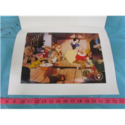 DISNEY SNOW WHITE AND THE 7 DWARFS EXCLUSIVE COMMEMORATIVE LITHOGRAPH 1994