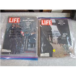 LOT OF 1960'S LIFE MAGAZINES (11)