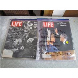 LOT OF 1960'S LIFE MAGAZINES (10)