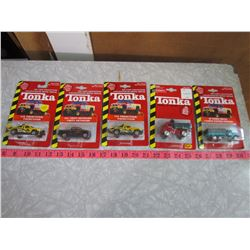 LOT OF 5 TONKA TOYS (ORIGINAL PACKAGE)