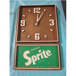 """BATTERY OPERATED SPRITE CLOCK (11.5"""" X 17.5"""")"""