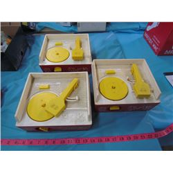 LOT OF 3 FISHER PRICE RECORD PLAYERS