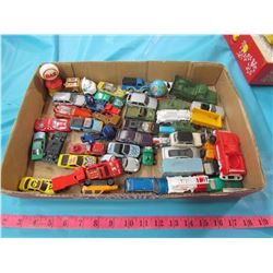 ONE BOX OF TOY CARS