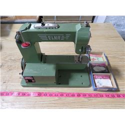 ELNA SEWING MACHINE AND ASSORTED TAGS & SEALS