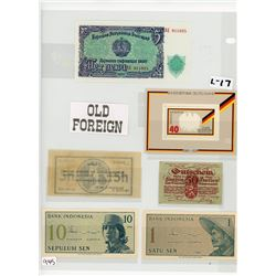 COLLECTION OF 6 ASSORTED FOREIGN BANKNOTES (VINTAGE)
