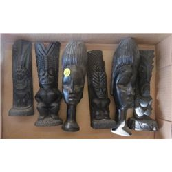 LOT OF 6 AFRICAN STATUES