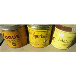 LOT OF 8 ASSORTED TINS TOBACCO