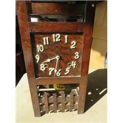 MISSION STYLE OAK CLOCK