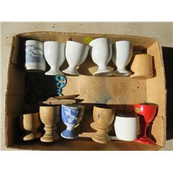 LOT OF 12 EGG CUPS