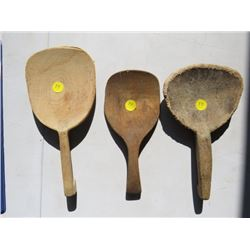 THREE BUTTER PADDLES