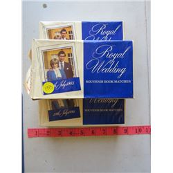 CHARLES & DIANA ROYAL WEDDING MATCHES (3 BOXES)