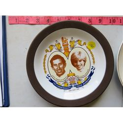 LOT OF 3 PIECES CHARLES & DIANA ROYAL WEDDING PLATES