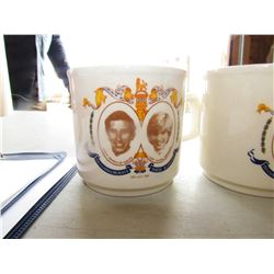 LOT OF 6 CUPS (3 CHARLES & DIANA, 3 CHARLES)