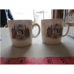 LOT OF 2 CUPS (QUEEN ELIZABETH), 1 CUP & 1 SPOON