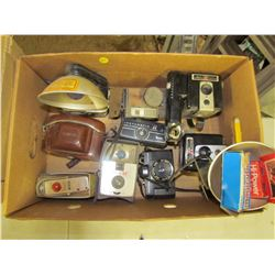 LOT OF ASSORTED CAMERAS & ACCESSORIES
