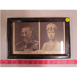 KING GEORGE V & QUEEN MARY 1910-1935 PICTURE & FRAME