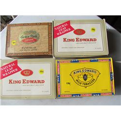 LOT OF 4 CIGAR BOXES