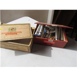 LOT OF 2 CIGAR BOXES (ONE HAS BROKEN LID)