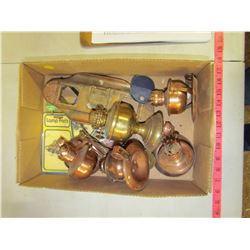 LOT OF ASSORTED LAMP PARTS (COPPER)