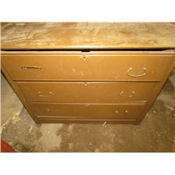 "ONE 3 DRAWER DRESSER (33""H X 42""W X 20""D)"