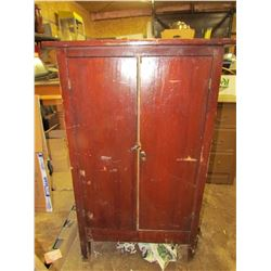 "TWO DOOR CUPBOARD (29.5"" X 15.5"" X 48"")"