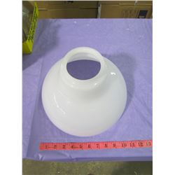 "ONE 12"" MILK GLASS SHADE (4"" TOP)"