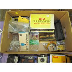 LOT OF KODAK AND IMPERIAL PIECES AND BULBS
