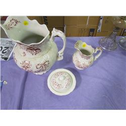 COMMODE SET (3 PIECES) *PITCHER, VASE, SOAPDISH*