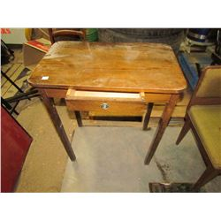 "WOODEN DESK WITH DRAWER (26""W)"