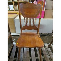 "WOODEN CHAIR (26"" BACK)"
